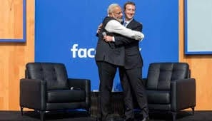 modi with zuckerberg