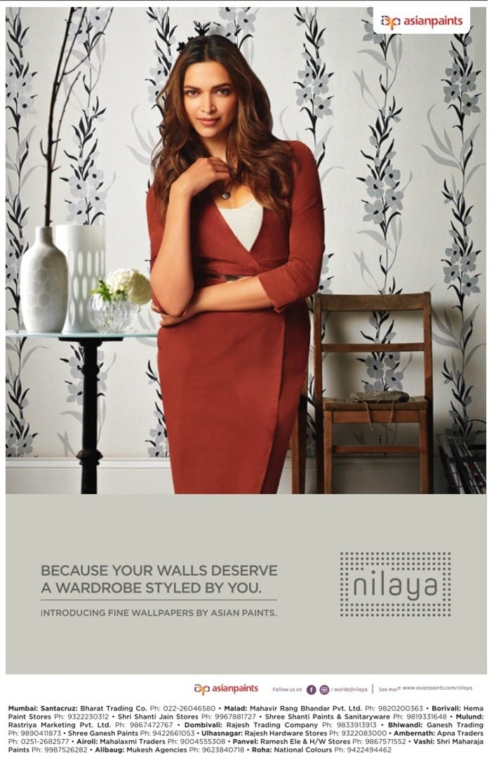 deepika padukone asian paints