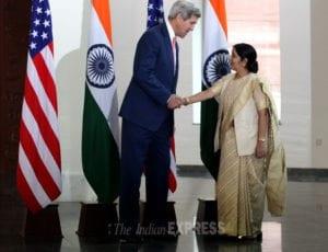 sushma swaraj kerry handshake- 2