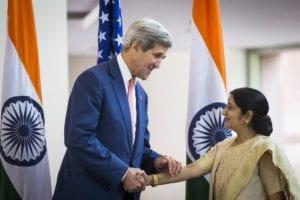 sushma swaraj kerry handshake- 3